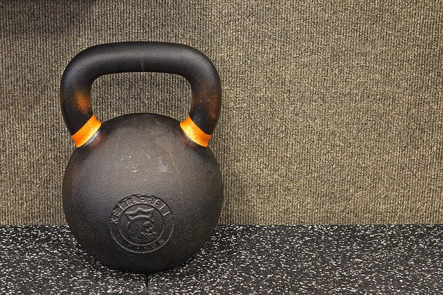 One can use a kettle bell to help lose weight.